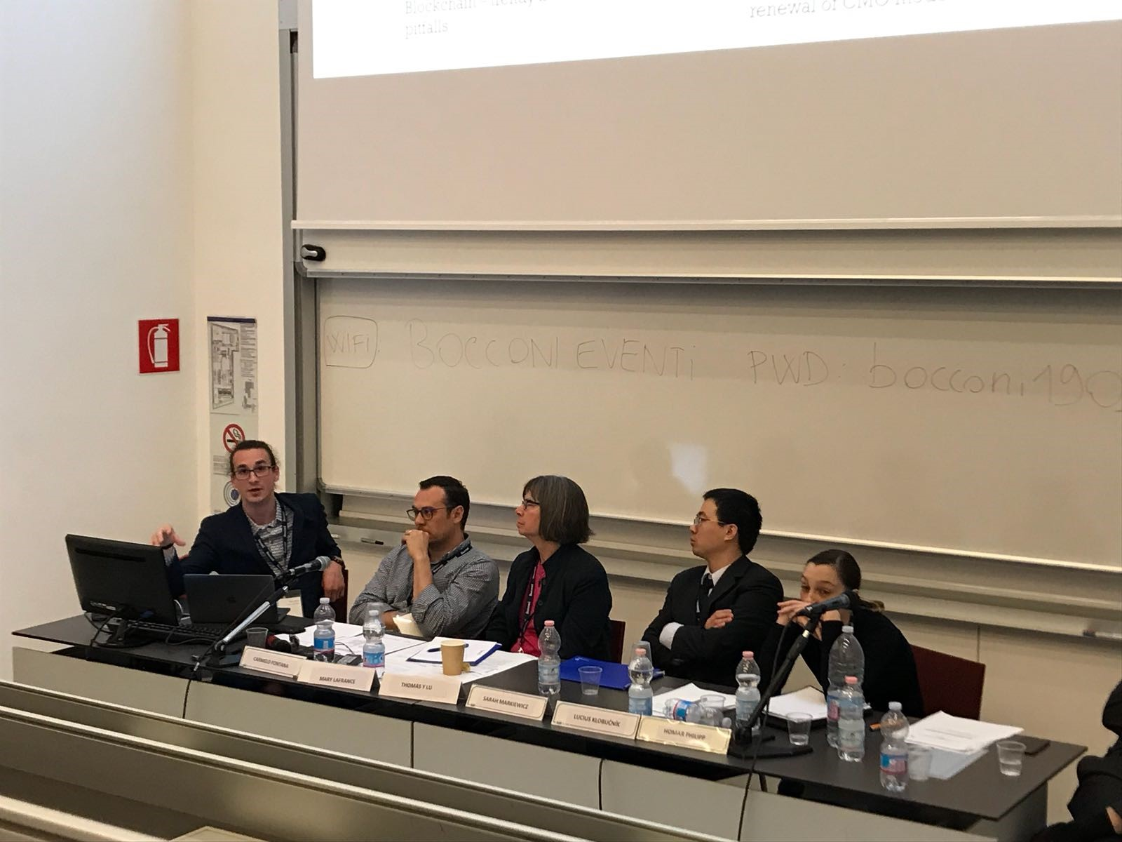 Presentation by Lucius Klobučník in Milan