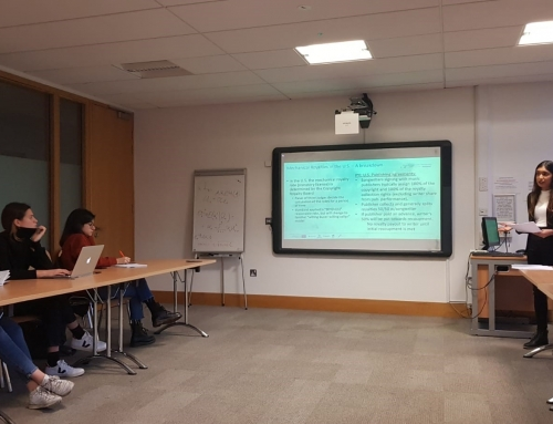 ESRs teaching at IP seminar series at Trinity College Dublin