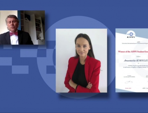 Anastasiia Kyrylenko wins the 2020 AIPPI Student Essay Prize